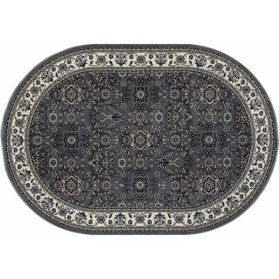 Kensington Gray Area Rug Rug Size: Oval 4 x 6