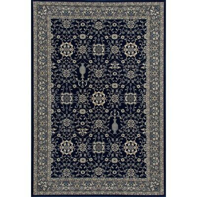 Kensington Machine Woven Navy Area Rug Rug Size: 9 x 12