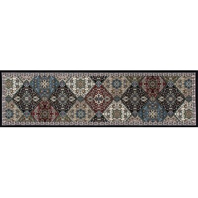 Kensington Black Area Rug Rug Size: Runner 3 x 11