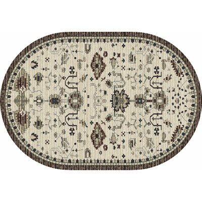 Arabella Cream Area Rug Rug Size: Oval 7 x 9