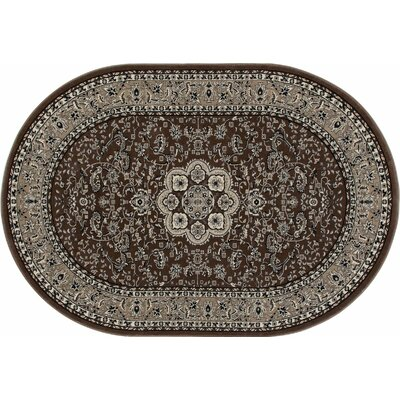 Kensington Brown Area Rug Rug Size: 2 x 4