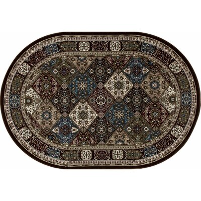 Lang Brown Area Rug Rug Size: 6'7 x 9'6