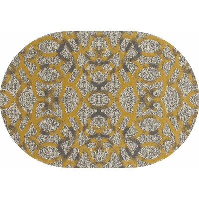 Bastille Yellow Area Rug Rug Size: Oval 7 x 10