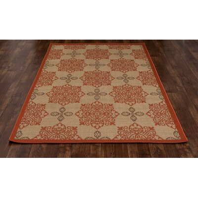 Plymouth Tan Indoor/Outdoor Area Rug Rug Size: Round 6'7