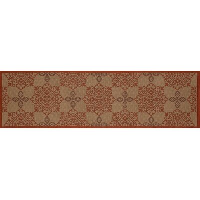 Plymouth Tan Indoor/Outdoor Area Rug Rug Size: Runner 27 x 9