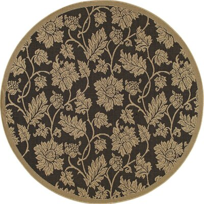 Beaminster Black/Beige Indoor/Outdoor Area Rug Rug Size: ROUND 710