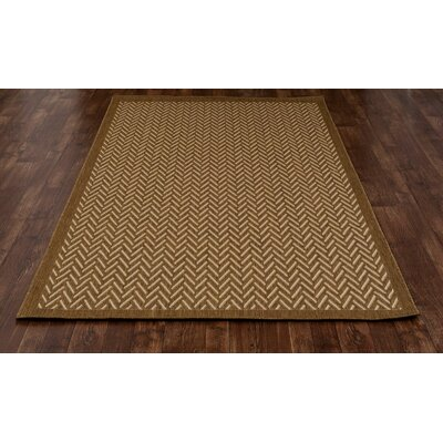 Beaminster Brown Indoor/Outdoor Area Rug Rug Size: 27 x 41