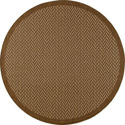 Plymouth Brown Indoor/Outdoor Area Rug Rug Size: Round 710