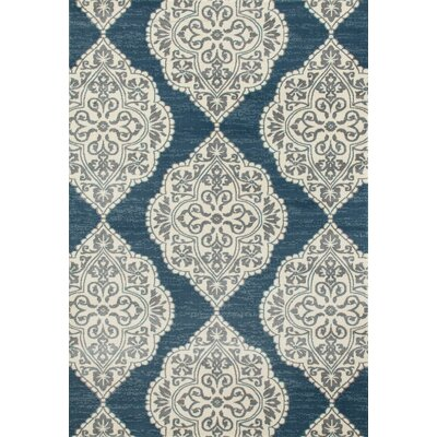Jack Machine Woven Blue Area Rug Rug Size: 92 x 124