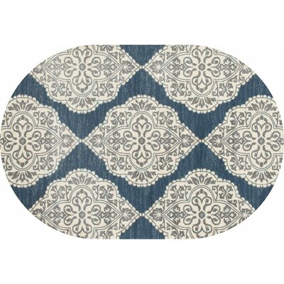 Jack Machine Woven Blue Area Rug Rug Size: 53 x 77