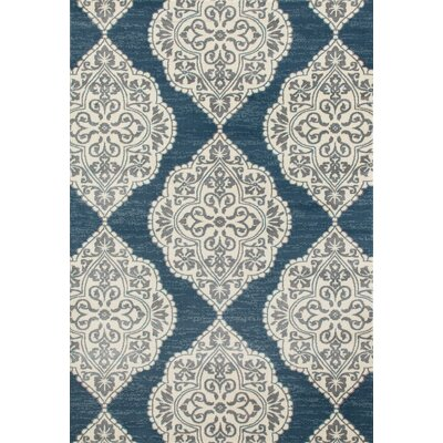 Arabella Machine Woven Blue Area Rug Rug Size: 5 x 8