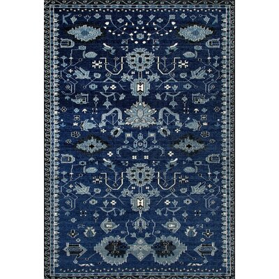 Arabella Machine Woven Navy Area Rug Rug Size: 2 x 4