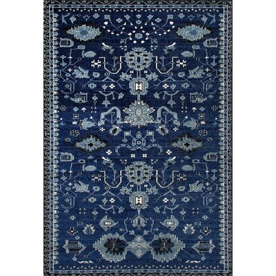 Arabella Machine Woven Navy Area Rug Rug Size: 4 x 6
