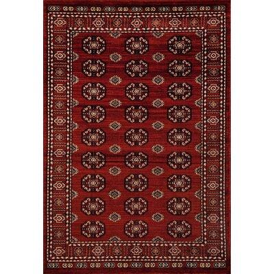 Hersom Burgundy Area Rug Rug Size: 92 x 124