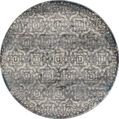 Hersom Gray/Teal Area Rug Rug Size: ROUND 710