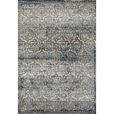 Arbor Gray/Teal Area Rug Rug Size: 22 x 33