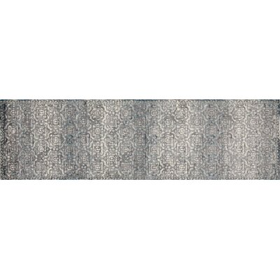 Arbor Gray/Teal Area Rug Rug Size: Runner 22 x 77