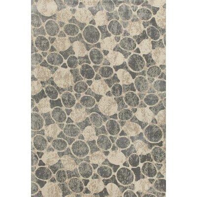 Arbor Gray/Beige Area Rug Rug Size: 92 x 124