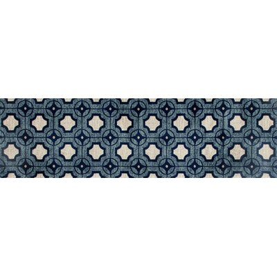 Arbor Blue Area Rug Rug Size: Runner 22 x 77