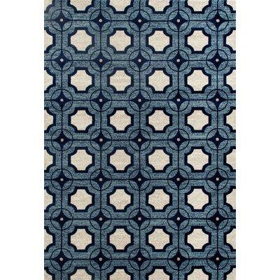 Arbor Blue Area Rug Rug Size: 92 x 124