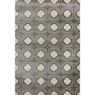 Arbor Gray/Ivory Area Rug Rug Size: 53 x 77