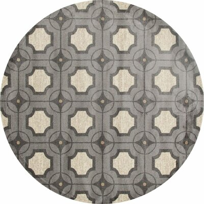 Arbor Gray/Ivory Area Rug Rug Size: Round 7'10