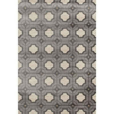 Crim Gray/Ivory Area Rug Rug Size: 92 x 124