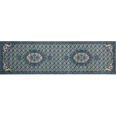 Arbor Blue Area Rug Rug Size: Runner 22 x 77