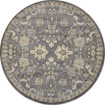 Hudson Gray Area Rug Rug Size: ROUND 710