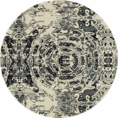 Chelsea Gray/Beige Area Rug Rug Size: Round 710