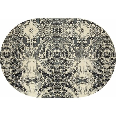 Hershberger Gray/Beige Area Rug Rug Size: OVAL 67 x 96
