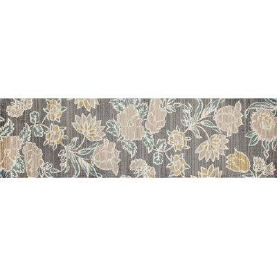Arbor Gray Area Rug Rug Size: Runner 22 x 77