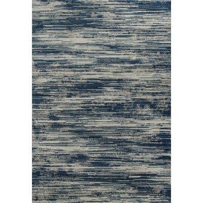 Burgos Aqua/Off-White Area Rug Rug Size: 92 x 124