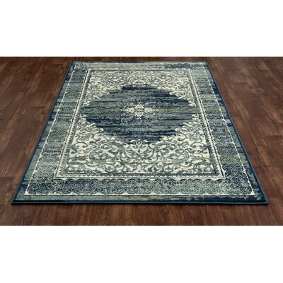 Chelsea Teal Blue Area Rug Rug Size: 53 x 77