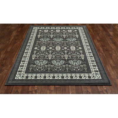 Channel Gray Area Rug Rug Size: 67 x 96