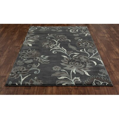 Channel Gray Area Rug Rug Size: 53 x 77