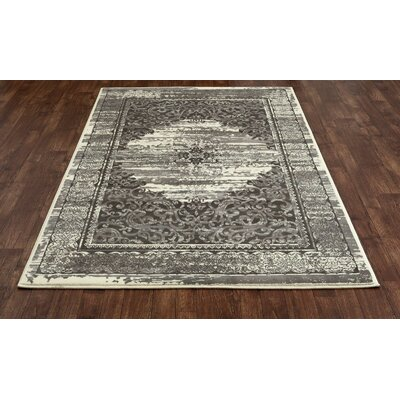 Channel Cream/Brown Area Rug Rug Size: 53 x 77