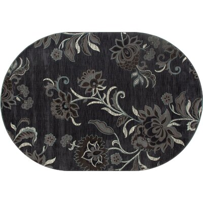Channel Gray Area Rug Rug Size: OVAL 67 x 96