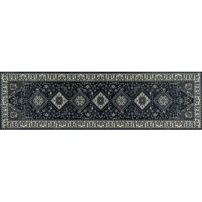 Channel Steel Blue/Gray Area Rug Rug Size: Runner 22 x 9