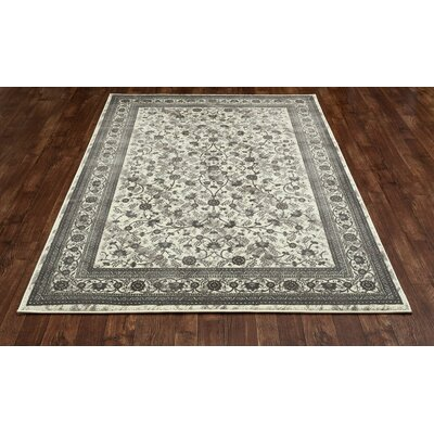 Channel Cream Area Rug Rug Size: 53 x 77