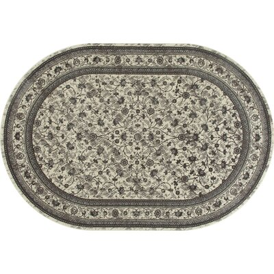 Channel Cream Area Rug Rug Size: OVAL 67 x 96
