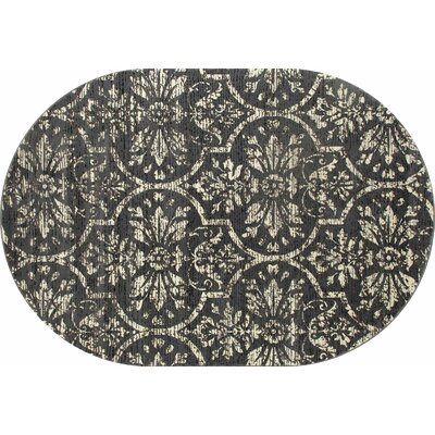 Chelsea Gray/Cream Area Rug Rug Size: Oval 67 x 96