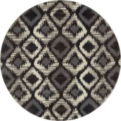 Hershberger Gray Area Rug Rug Size: ROUND 710