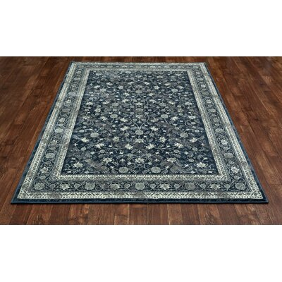 Chelsea Steel Blue Area Rug Rug Size: 67 x 96