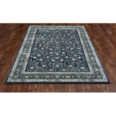 Chelsea Steel Blue Area Rug Rug Size: 53 x 77