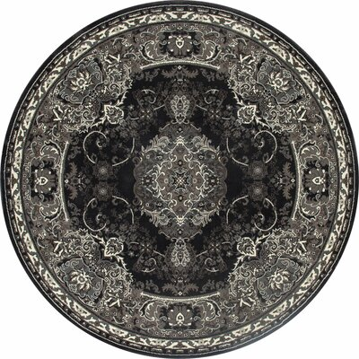 Channel Gray Area Rug Rug Size: ROUND 710