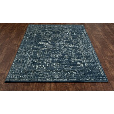 Channel Steel Blue Area Rug Rug Size: 22 x 311