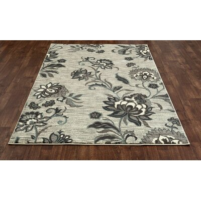 Channel Beige Area Rug Rug Size: 53 x 77