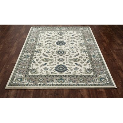 Kensington Cream Area Rug Rug Size: Oval 5 x 8