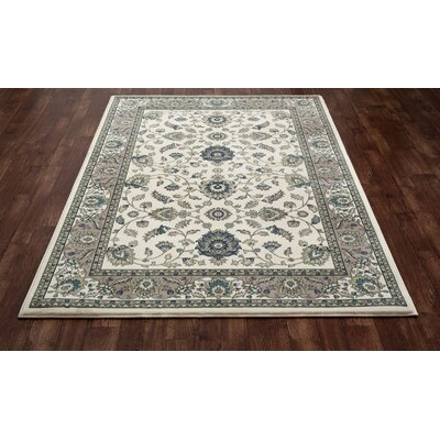 Kensington Cream Area Rug Rug Size: 5 x 8